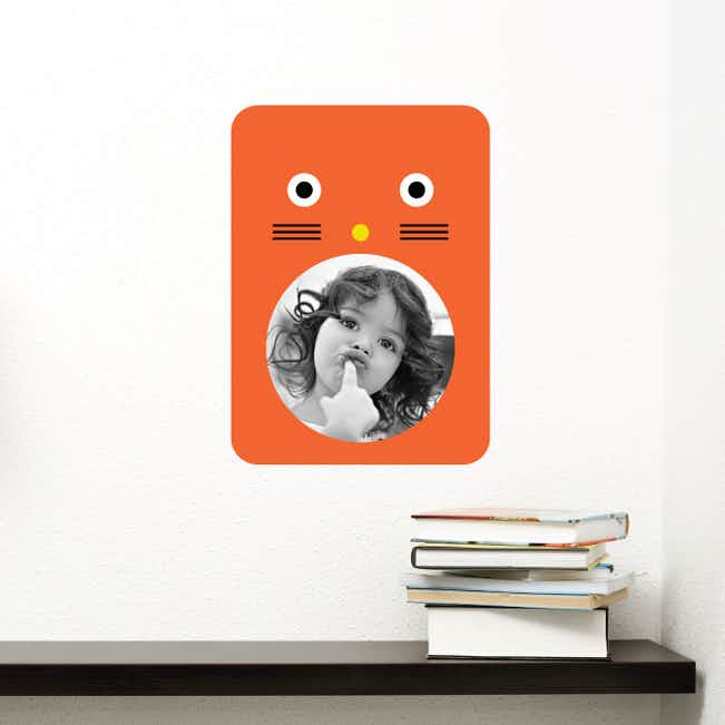 Cat Photo Frame Stickers - Orange