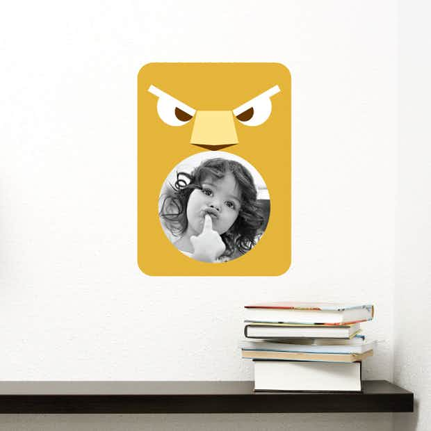 Lion Photo Frame Sticker - Wall Decal