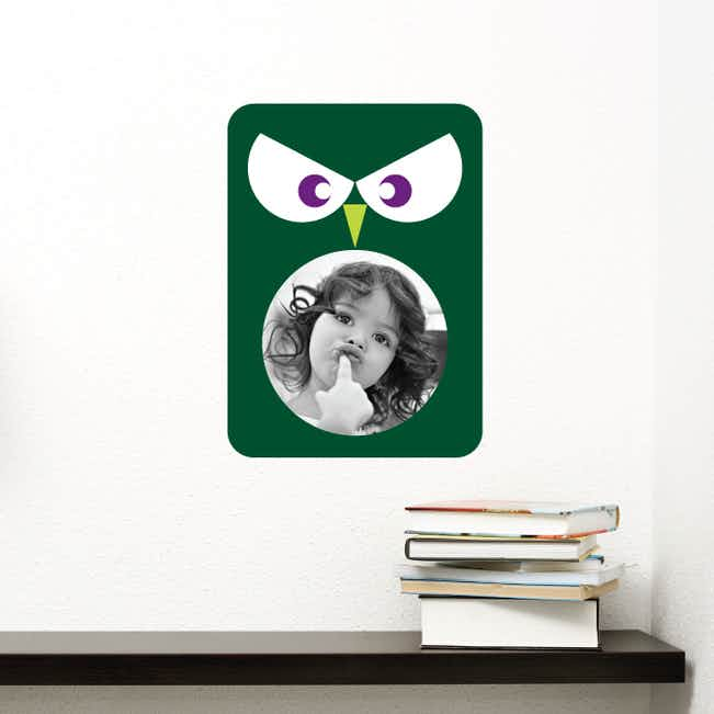 Owl Photo Wall Decals - Green