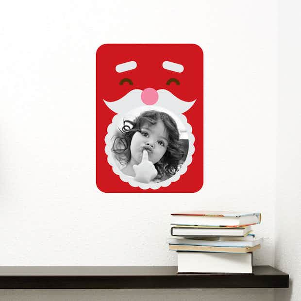 Santa Photo Frame Sticker - Wall Decal