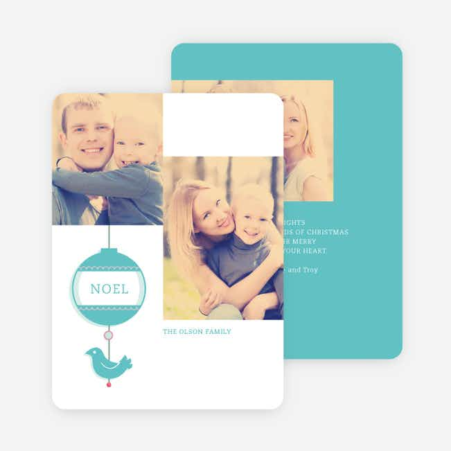 Bird of Joy Custom Holiday Cards - Blue