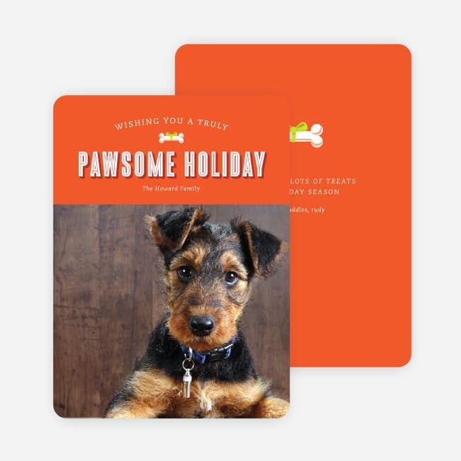 pawesome holidays main - Dog Holiday Cards