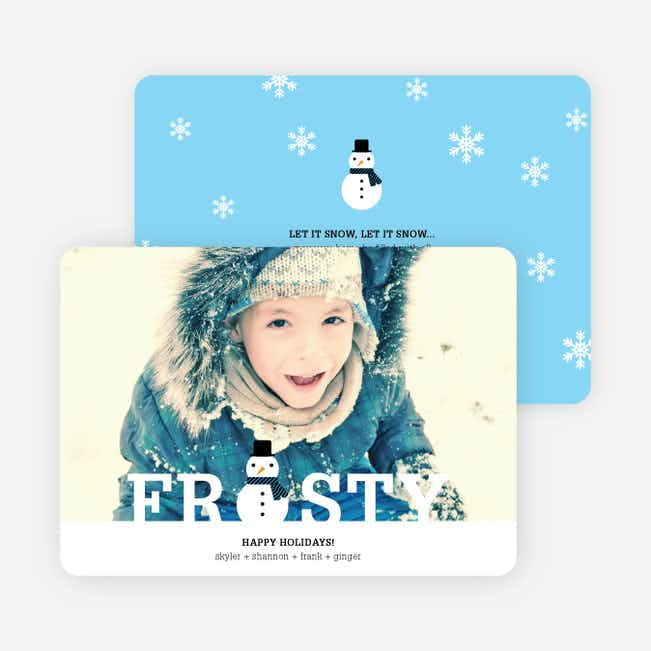 Frozen Christmas Cards - Blue