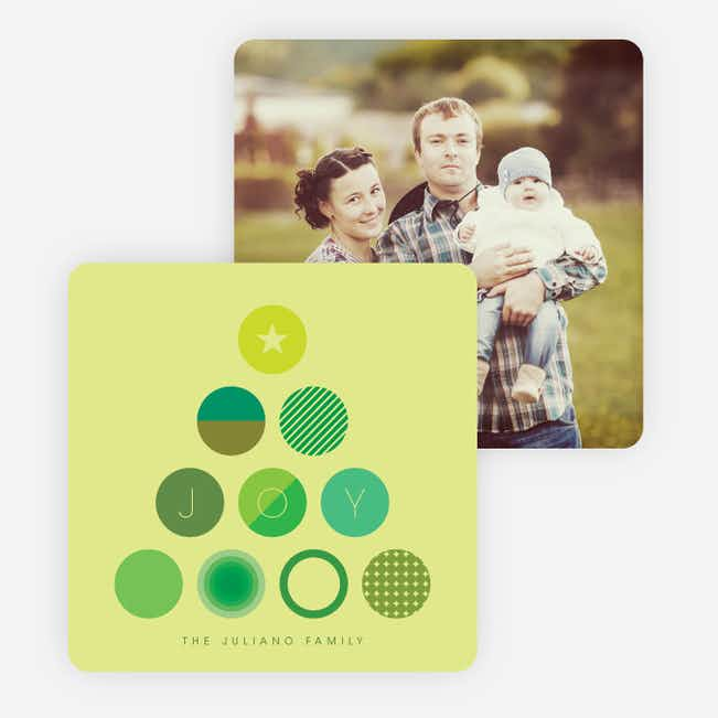 Tree of Joy Christmas Cards - Green