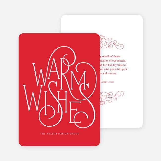 fancy warm wishes main - Fancy Christmas Cards