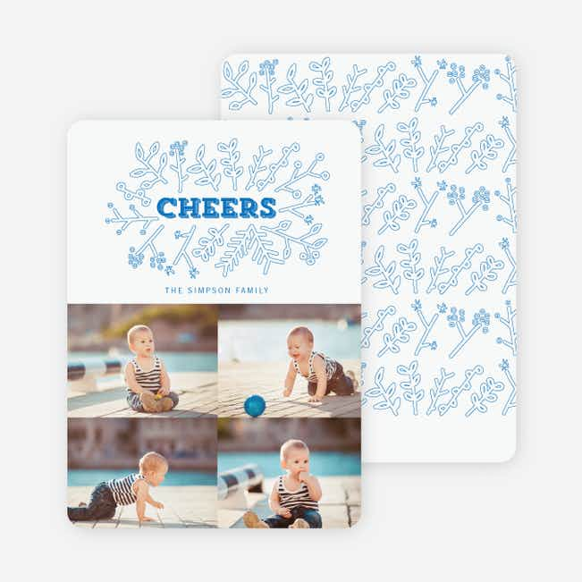 Toasting Mother Nature Holiday Cards - Blue