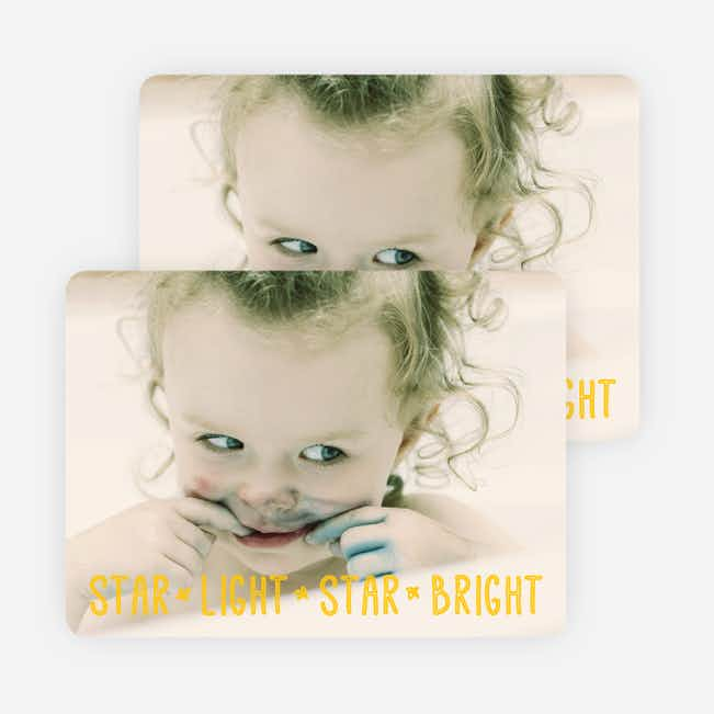 Star Light, Star Bright, Christmas Cards - Yellow