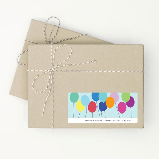 Birthday Balloon Gift Tag Stickers