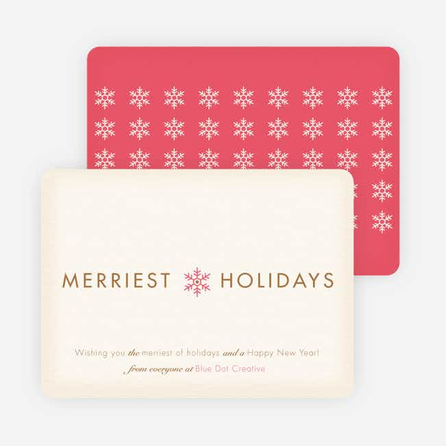 Merriest Holidays - Pink