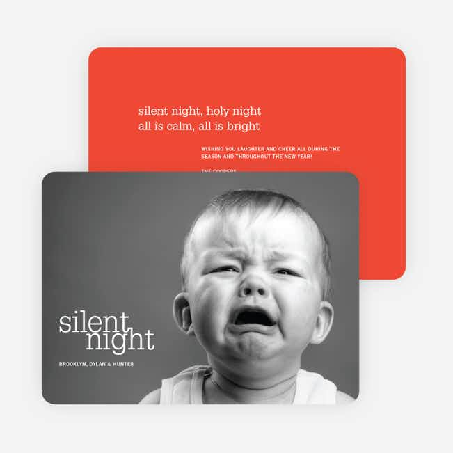 Not So Silent Night Cards - Red
