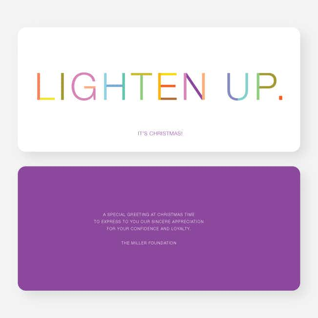 Lighten Up, It's Christmas Cards - Purple