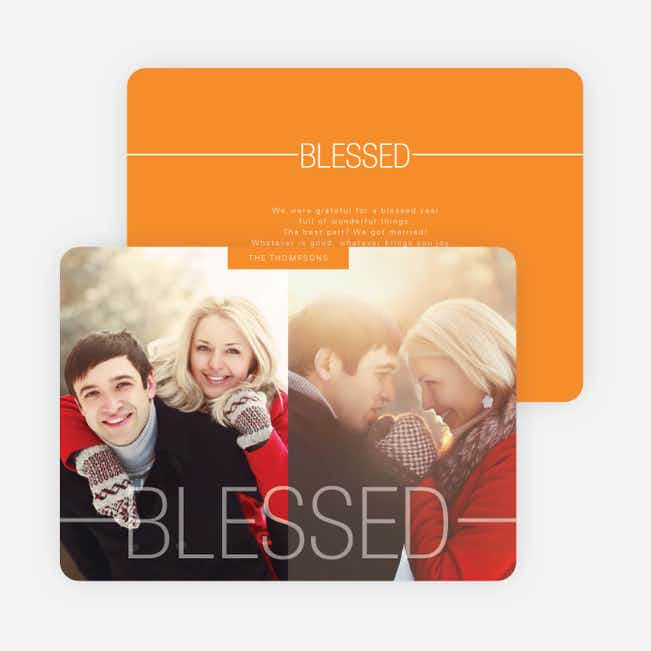 Blessed Christmas Cards - Orange