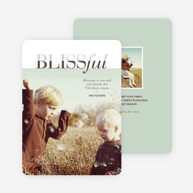 Blissful Holiday Cards - Main