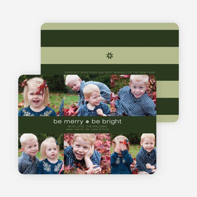 Merry and Bright Holiday Photo Cards - Khaki