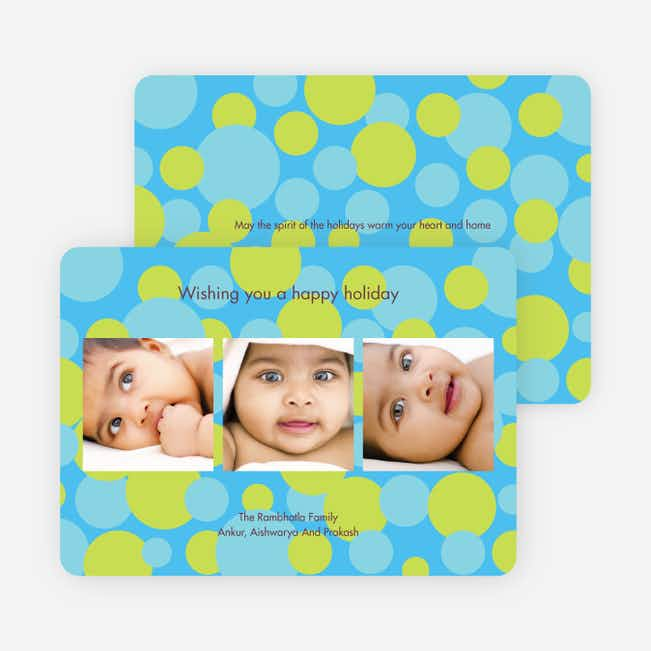 Multi Photo Holiday Cards - Light Blue