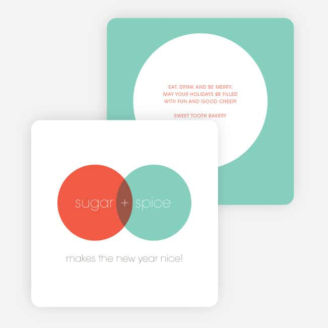 Venn Diagram Corporate Holiday Cards - Blue