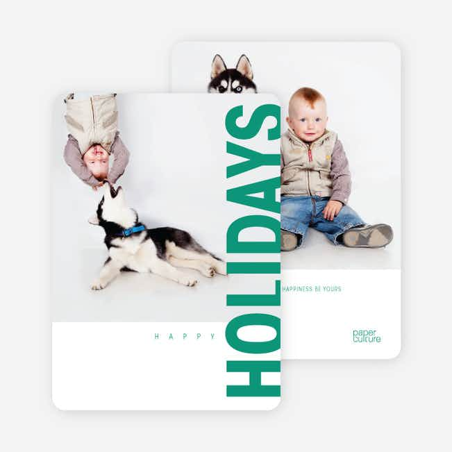 Gifts of the Holidays Cards - Green