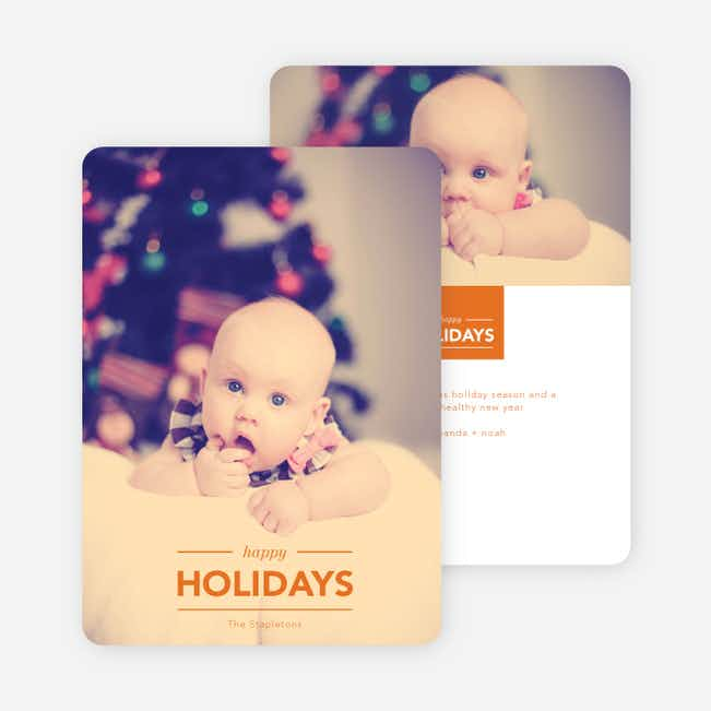 Happy Holiday Banner - Orange