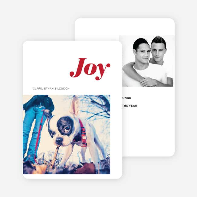 Joy Holiday Cards - Red
