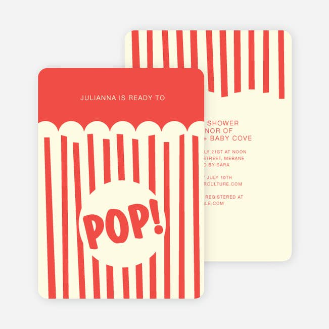 Movie night and popcorn party invitations paper culture popcorn party main filmwisefo