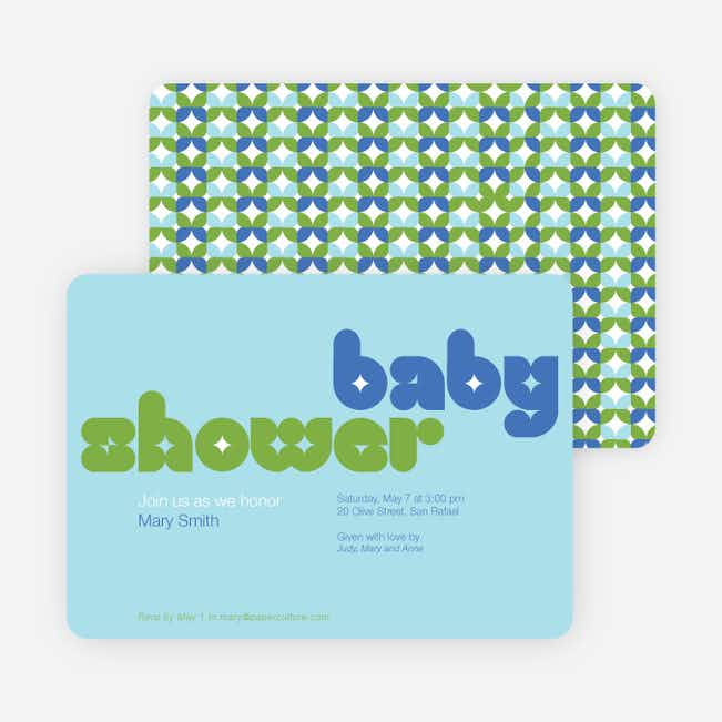 Superstar Boy Baby Shower Invitations - Blue