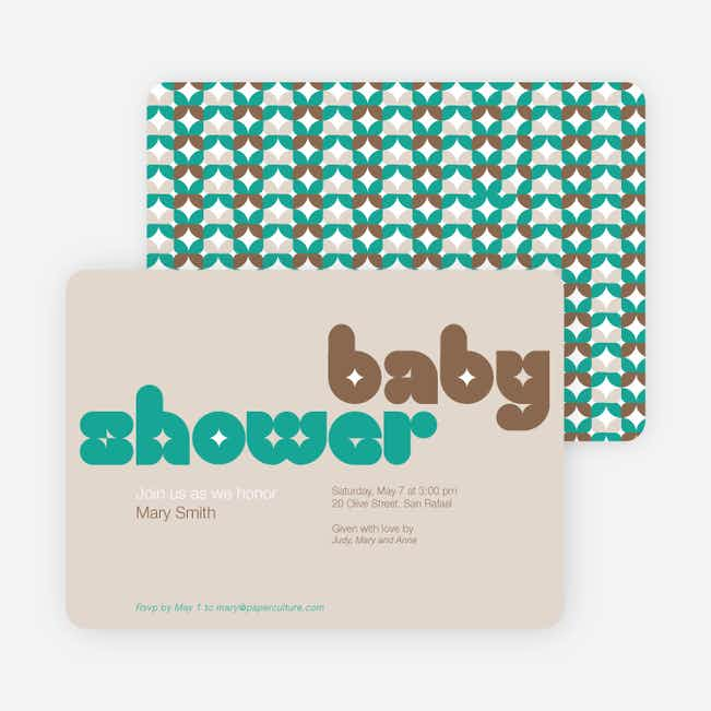Superstar Boy Baby Shower Invitations - Brown