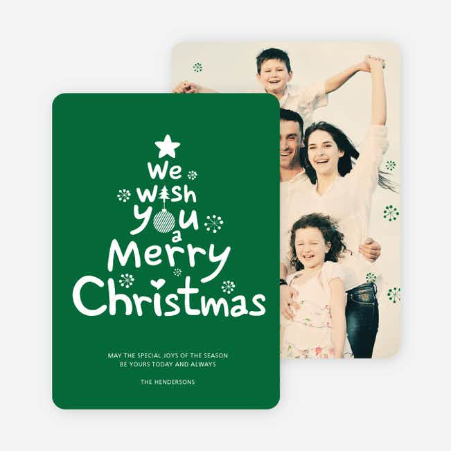 We Wish You a Merry Christmas Card - Green