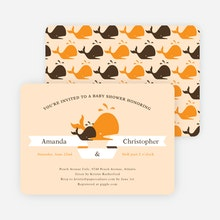 Gender neutral baby shower invitations paper culture whale of a time shower invitations orange filmwisefo Images