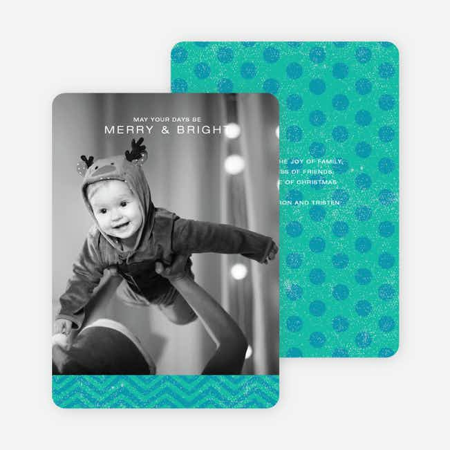 Charming Holiday Cards - Blue