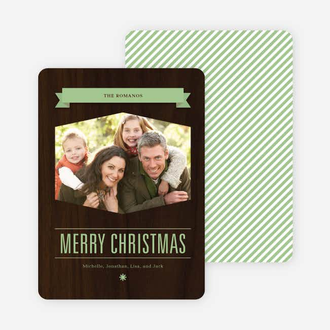 Classic Banner Holiday Photo Cards - Pistachio