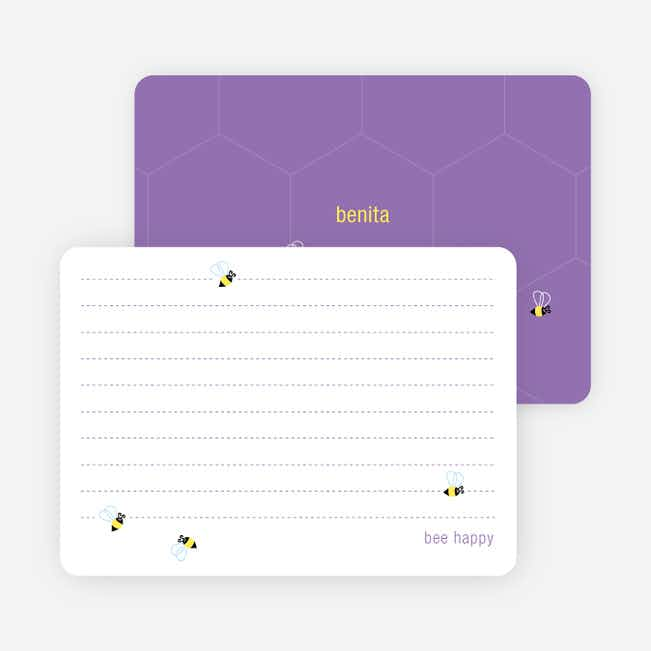 Notecards for the 'Buzzing Bees' cards. - Gorgeous Grape