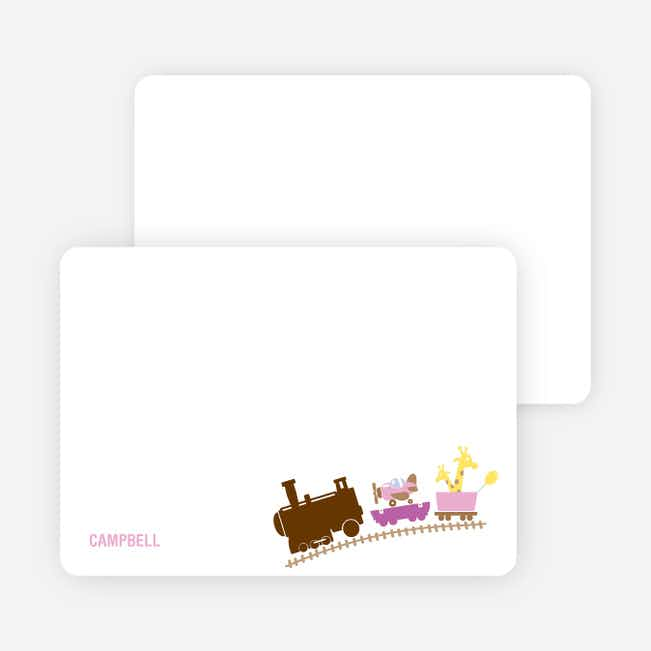 Stationery: 'Little Engine that Would and Could' cards. - Pink