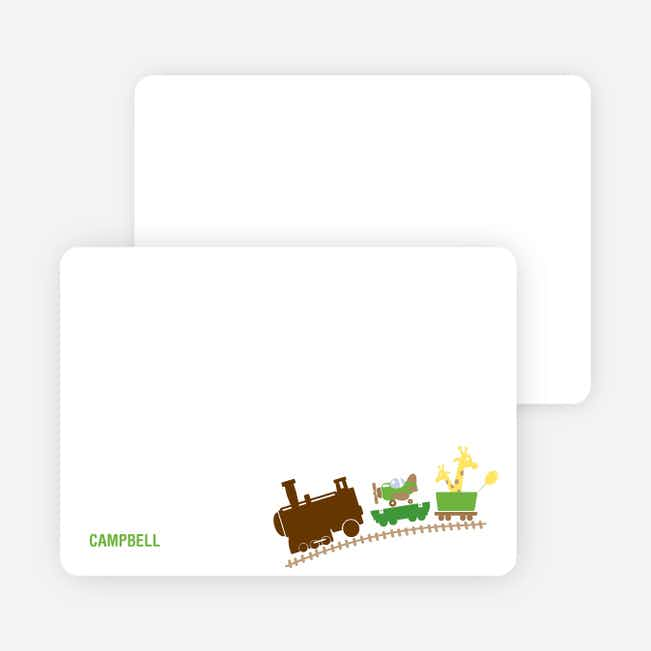 Stationery: 'Little Engine that Would and Could' cards. - Apple Green