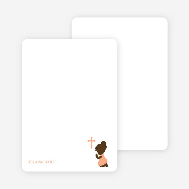 Stationery: 'Prayers Answered' cards. - Pale Orange