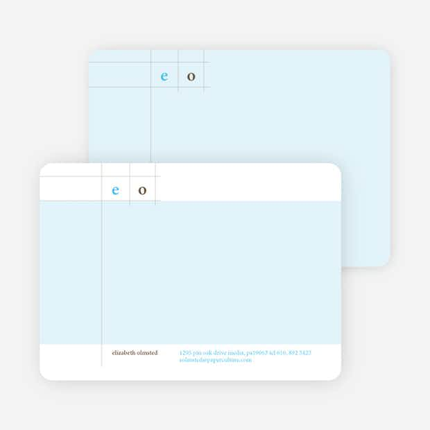 Modern Lines Note Cards - Main