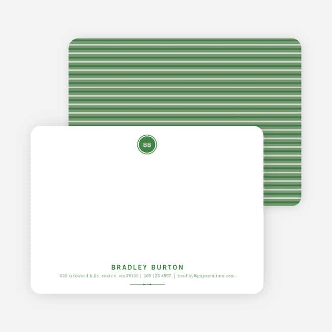 Modern Stationery: Simply Put on 100% Recycled Paper - Forest Green