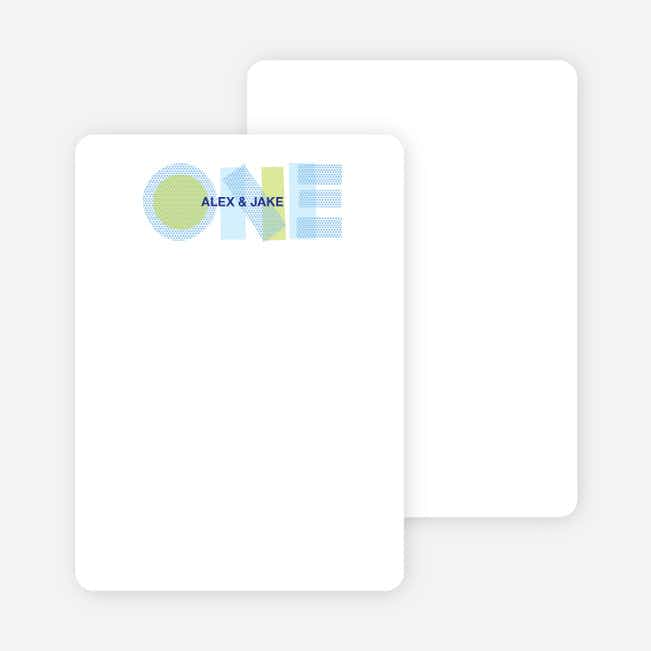 Note Cards: '1st Birthday' cards. - Baby Blue