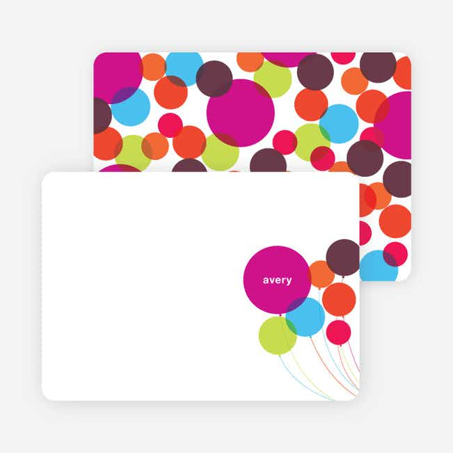 Note Cards: 'Balloons' cards. - Multi