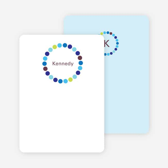 Note Cards: 'Circles' cards. - Rich Blue