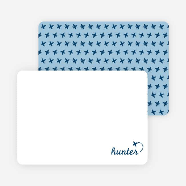 Notecards for the 'It's a Boys' cards. - Blue