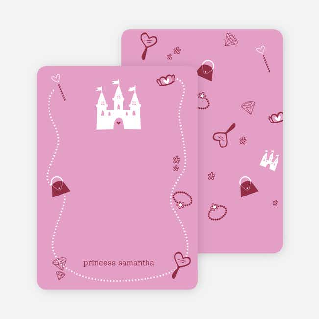 Personal Stationery for Your Princess' Birthday Invitation - Cotton Candy