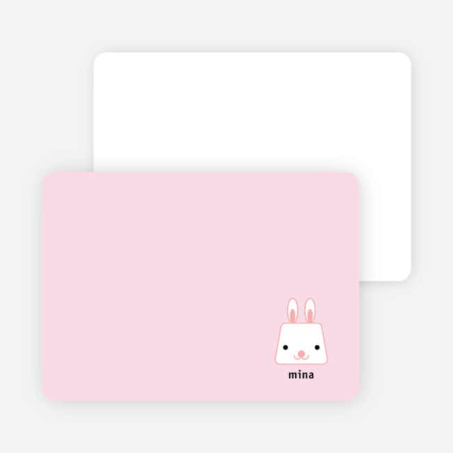 Rabbit Stripe Stationery and Note Cards - Strawberry Filling