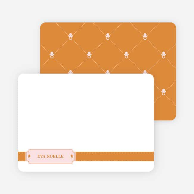 Stationery: 'Sealed with a Binky' cards. - Apricot