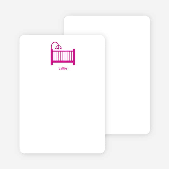 Stationery: 'Shhh! Baby's Sleepin' cards. - Magenta