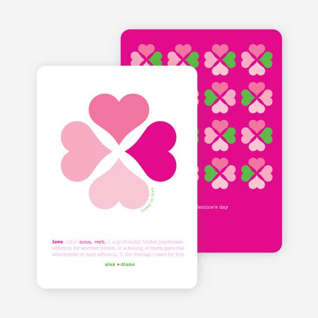 Clover Says: You're Lucky in Love - Magenta