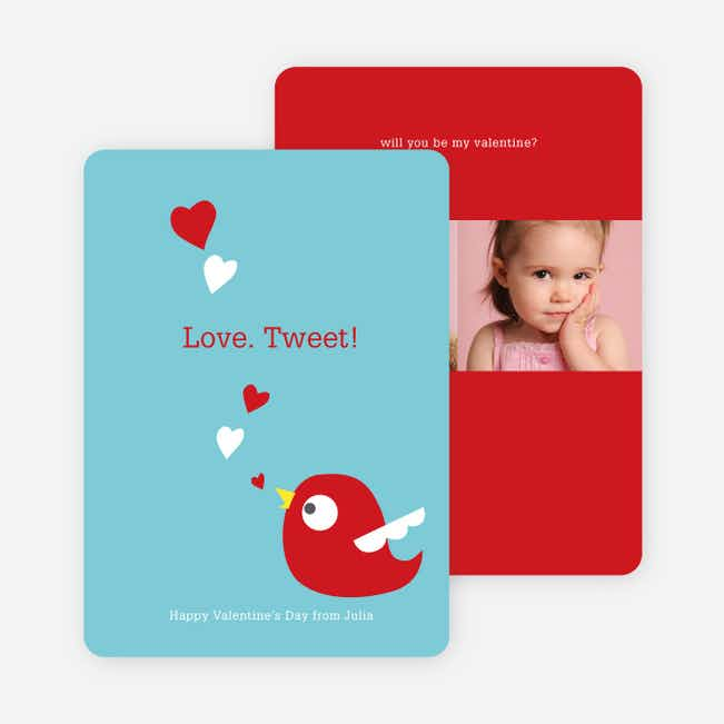 Love Tweet Eco Friendly Photo Cards - Baby Blue