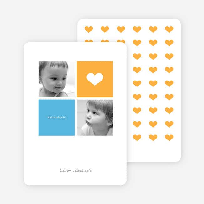Simply Love Multi Photo Valentine's Day Card - Papaya