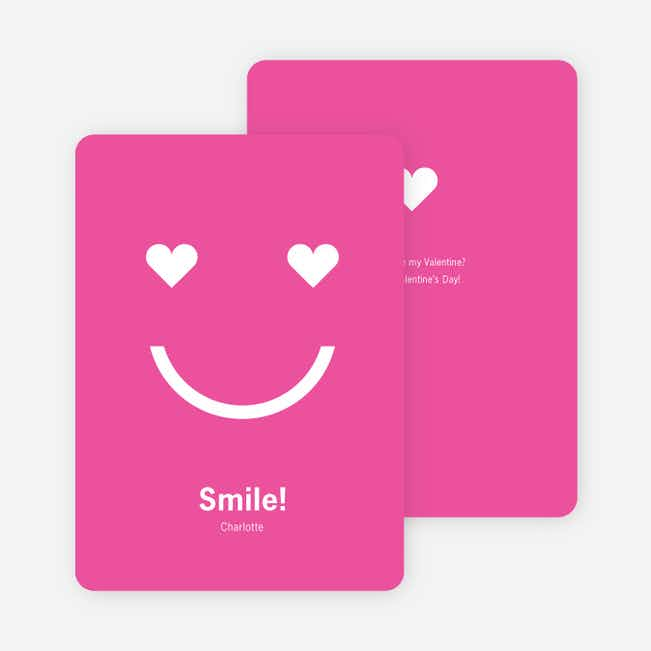 Smiling from the Heart: Valentine's Day Greetings - Hot Pink