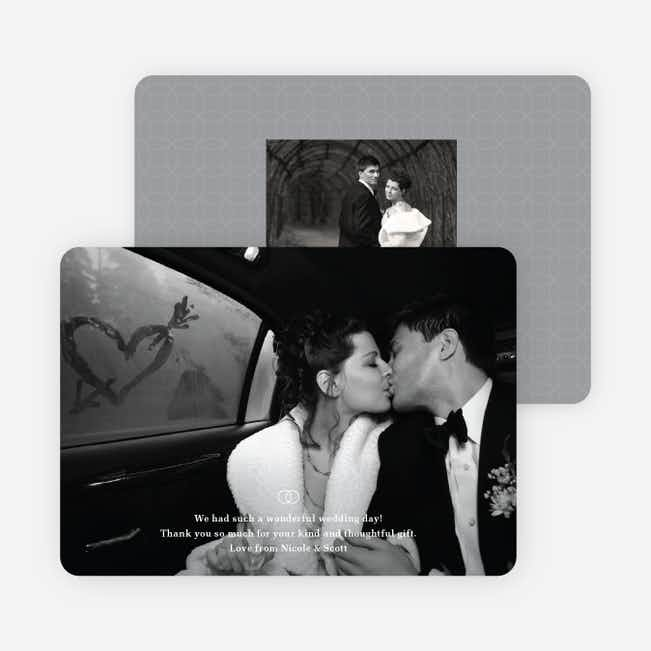 Intertwined: Photo Thank You Cards for Weddings and Other Occasions - White