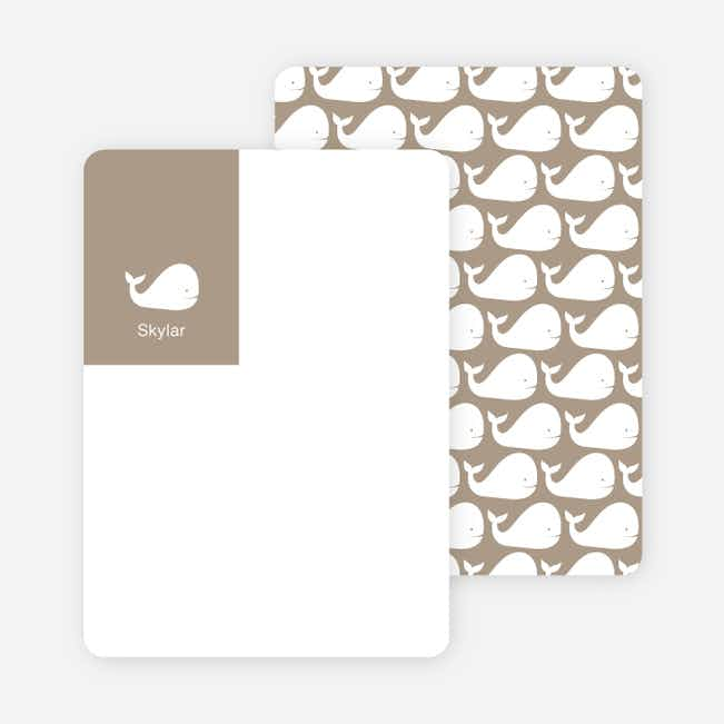 Moby Dick Whale Stationery with Personal Photo - Sand